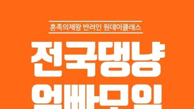 """다가오는 10월 12일(토)에 반려인들에게 추천하는 """" 혼족의 제왕! 반려동물 원데이 클래스""""가 개최된다!"""