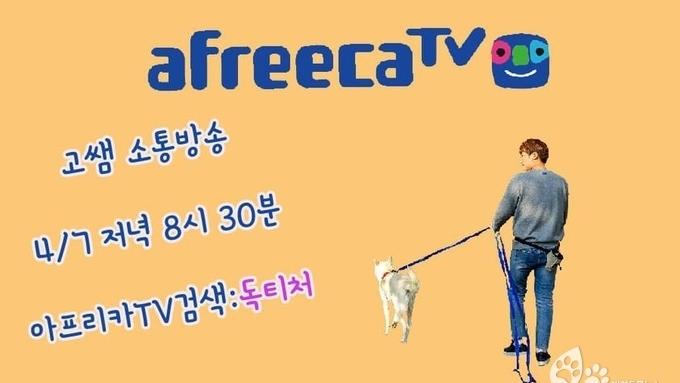 """화제! 아프리카TV """"독티처 고쌤"""" 채널은 4월 7일 오후8시 30분에 생방송이 방송될 예정!"""